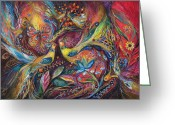 Signed Painting Greeting Cards - The Elegy Greeting Card by Elena Kotliarker