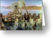 Alma-tadema Greeting Cards - The Finding of Moses Greeting Card by Sir Lawrence Alma Tadema