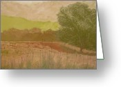 Early Pastels Greeting Cards - The Fog Bank Greeting Card by Harvey Rogosin