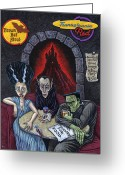 Frankenstein Greeting Cards - The Fried of Blankenstein Greeting Card by Holly Wood