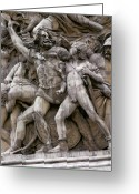 Europe Sculpture Greeting Cards - The glory that was France Greeting Card by Carl Purcell