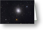 Star Clusters Greeting Cards - The Great Globular Cluster In Hercules Greeting Card by Roth Ritter