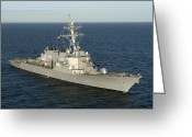 Guided Missile Destroyers Greeting Cards - The Guided-missile Destroyer Uss Laboon Greeting Card by Stocktrek Images