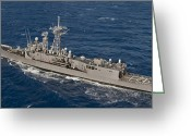 Frigate Greeting Cards - The Guided-missile Frigate Uss Reuben Greeting Card by Stocktrek Images