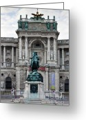 Wien Greeting Cards - The Hofburg Imperial Palace Greeting Card by Andre Goncalves