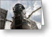 Grapple Greeting Cards - The Hubble Space Telescope Greeting Card by Stocktrek Images