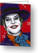 Characters Greeting Cards - The Joker Greeting Card by Alicia Hayes