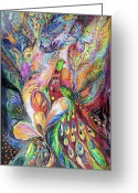 Signed Painting Greeting Cards - The King Bird Greeting Card by Elena Kotliarker