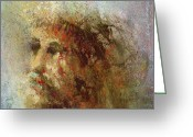 Jesus Painting Greeting Cards - The Lamb Greeting Card by Andrew King