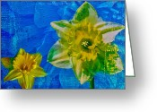 Power Lines Framed Prints Greeting Cards - The Laughing Daffodil  Greeting Card by Jerry Cordeiro