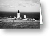 Most Greeting Cards - The Lighthouse At Dunnet Head Most Northerly Point Of Mainland Britain Scotland  Greeting Card by Joe Fox
