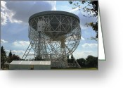 Antenna Greeting Cards - The Lovell Telescope At Jodrell Bank Greeting Card by Mark Stevenson