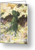Eleanor Greeting Cards - The Lovers World Greeting Card by Eleanor Fortescue-Brickdale