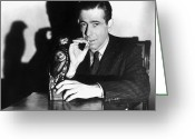 Cigarette Greeting Cards - The Maltese Falcon, 1941 Greeting Card by Granger
