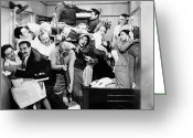 Film Still Greeting Cards - The Marx Brothers, 1935 Greeting Card by Granger