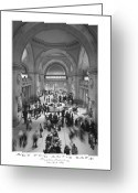 White Digital Art Greeting Cards - The Metropolitan Museum of Art Greeting Card by Mike McGlothlen
