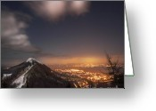 Illuminations Greeting Cards - The Midnight On Malvern Hills Greeting Card by Angel  Tarantella