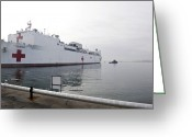 Humanitarian Aid Greeting Cards - The Military Sealift Command Hospital Greeting Card by Stocktrek Images