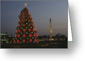 Decoration And Ornament Greeting Cards - The National Christmas Tree Greeting Card by Karen Kasmauski