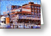 Factories Greeting Cards - The Old C and H Pure Cane Sugar Plant in Crockett California . 5D16769 Greeting Card by Wingsdomain Art and Photography