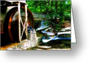 Mill Stone Greeting Cards - The old grist mill Greeting Card by David Lee Thompson
