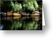Willows Digital Art Greeting Cards - The Pond on Lamplight Lane Greeting Card by RC DeWinter
