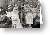 Bridesmaid Greeting Cards - The Power Within, 1921 Greeting Card by Granger
