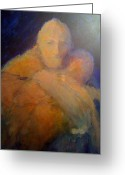 Faith Pastels Greeting Cards - The Prodigal Son Greeting Card by Kathryn Doneghan