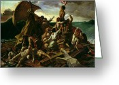 Nudes Greeting Cards - The Raft of the Medusa Greeting Card by Theodore Gericault