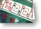 Playing Cards Greeting Cards - The River Greeting Card by Debbie DeWitt
