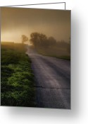 Ron Mcginnis Photography Greeting Cards - The Road Home Greeting Card by Ron  McGinnis