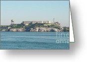 Alcatraz Greeting Cards - The Rock Greeting Card by Double B Photography Carol Bradley