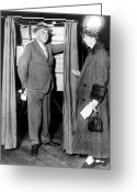 Democratic Party Greeting Cards - The Roosevelts Voting Greeting Card by Granger
