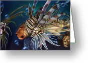 Aquarium Painting Greeting Cards - The Sentinels Greeting Card by Patrick Anthony Pierson