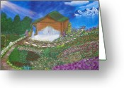 Bible Mixed Media Greeting Cards - The Shack In Transition Greeting Card by Laurie Kidd