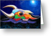 Skull Painting Greeting Cards - The Spirit Still Roams Greeting Card by Joe  Triano