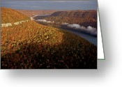 Southern Rocky Mountains Greeting Cards - The Tennessee River Cuts Through Signal Greeting Card by Stephen Alvarez