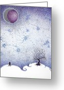Inner Peace Greeting Cards - The Traveler Greeting Card by Andrew Zeutzius