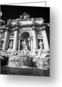 2007 Greeting Cards - The Trevi fountain Rome Lazio Italy Greeting Card by Joe Fox