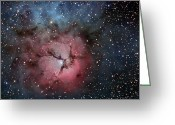 H Ii Regions Greeting Cards - The Trifid Nebula Greeting Card by R Jay GaBany