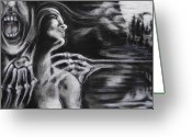 Creepy Pastels Greeting Cards - The Turning Point Greeting Card by Christine Wagner