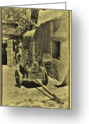 Santa Fe Greeting Cards - The Wooden Cart Greeting Card by David Patterson
