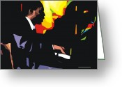 Male Portraits Greeting Cards - Thelonius Monk Greeting Card by Walter Neal