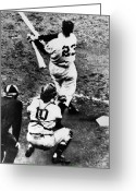 Polo Grounds Greeting Cards - Thomson Home Run, 1951 Greeting Card by Granger