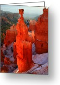 Thor Photo Greeting Cards - Thors Hammer in Bryce Canyon Greeting Card by Pierre Leclerc