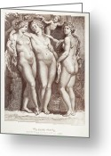 Coronation Greeting Cards - Three Graces Greeting Card by Granger