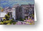 Stone Chimney Greeting Cards - Ticino Greeting Card by Joana Kruse