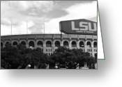 Louisiana Greeting Cards - Tiger Stadium Panorama Greeting Card by Scott Pellegrin
