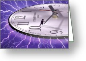 Surreal Art Greeting Cards - Time Stops For No One Greeting Card by Mike McGlothlen