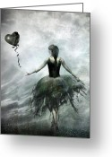 Heart Greeting Cards - Time to let Go Greeting Card by Photodream Art